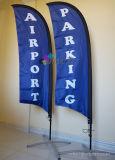 Stampa dei lati di qualità due di Hihg che fa pubblicità alla piuma con la bandierina della bandiera della spiaggia