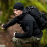 Outdoor Hunting Hoodie Waterproof Jacket, With Three Layers dei militari neri di Composite Material