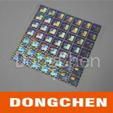 2d Серебряные листы стикеров Hologram нестандартной конструкции цвета