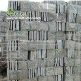 녹색 슬레이트 자연적인 균열 Rockface 벽 돌