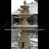 Fontana di pietra di marmo Mf-1023 del calcio dell'oggetto d'antiquariato del travertino del giardino del granito