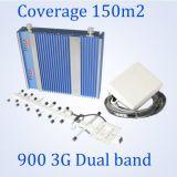 Repetidor de GSM&Dcs da potência mais elevada, impulsionador móvel do sinal da HOME para o sinal duplo 900/2100MHz da faixa