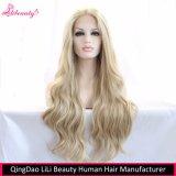 Высокого качества парик фронта шнурка волос длиной прямой синтетический