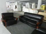 Hölzernes Sofa, ledernes Sofa, Kombinations-Sofa, China-Sofa (A59)