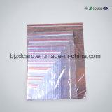 Sac en plastique antipoussière de PE pour des sous-vêtements empaquetant avec une tirette