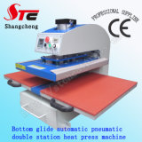 TシャツのPrinting Machine Pneumatic Double Station Heat Press Machine 40*60cm Bottom Glide Automatic Heat Transfer MachineのセリウムCertificate