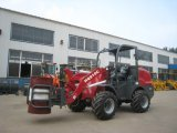 Barrel Clamp를 가진 세륨 Articulated 1.0 Ton Mini Loader (HQ910C)