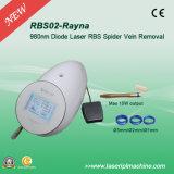 Imediatamente do diodo vascular de Doppler 980nm da máquina da remoção da veia da aranha do resultado Rbs02 remoção vascular do laser