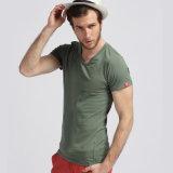 Normales unbelegtes rundes Stutzen Quatity Baumwollgroßhandelst-shirt für Männer (xy20230)