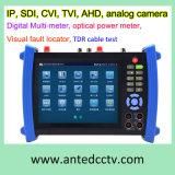 "Beroeps 7 "" Onvif Multifunctionele IP Sdi Tvi Cvi het Meetapparaat van kabeltelevisie van de Camera Ahd met Poe"