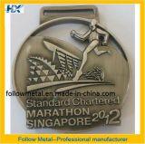 Médaille faite sur commande pour le marathon Singapour avec l'homme courant 1