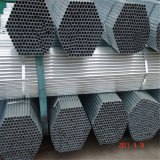 Laminado en caliente, recubierto de cinc REG Ronda de tubos de acero galvanizado Estructura