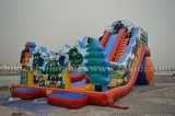 おかしいInflatable WaterかDry Slide、Tri Jezdci (3人の騎士) Slide、Large Amusement Park Inflatable Water Slide