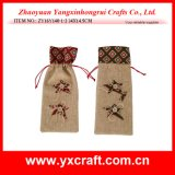 クリスマスの装飾(ZY16Y137-1-2 34X14.5CM)のスノーマンのワイン袋のワインの包装