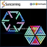 Deviazione standard Control 3D LED Triangle Wall Panel Decoration Digital Pixel Light