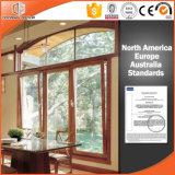 Высокое похваленное алюминиевое окно Casement твердой древесины Clading