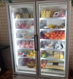 Réfrigérateur d'étalage pour le supermarché en Chine