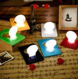 Lampe portative de carte du livre DEL de lumière de pochette, lumière de Noël de cadeau de promotion