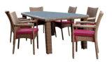 藤の足を搭載する柳細工のチェアーテーブル