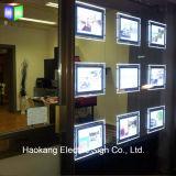 부동산 수정같은 프레임 LED 가벼운 상자를 거는 Windows 표시 천장