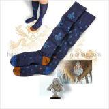 El hacer punto en calcetín del estilo de la manera de la escuela de Houndstooth