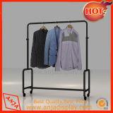 Vêtements de crémaillères d'étalage de vêtement en métal étirant le système pour le système
