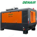 Compressor de ar Diesel estacionário montado patim do parafuso da potência de 250 Cfm