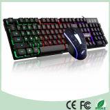 Верхняя часть Амазонкы продавая установленные клавиатуру освещенную контржурным светом СИД игры и мышь (KB-1801EL-C)