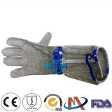 Macellaio Chain Mail Gloves Metal Safety Gloves con Long Sleeve (8cm, 15cm, 20cm)