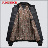 人の余暇のコートの布のための方法冬PUのジャケット