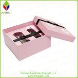 Perfume de la caja de regalo de color rosa con PVC Insertar