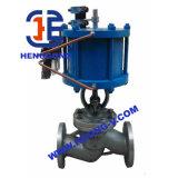 Valvola di globo pneumatica dell'olio industriale dell'acciaio di getto di API/DIN
