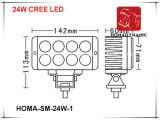 6 des Zoll-24W LED super helles LED fahrendes Licht Arbeits-des Licht-6000k