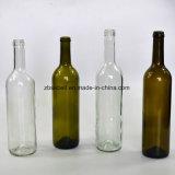 Großhandelsglasflasche des Wein-750ml in der antiken grünen Farbe (NA-002)