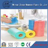 Tissu non-tissé coloré de Spunlace, tissu de nettoyage