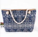 新しい各国用の風の布ファブリックハンドバッグの方法印刷のキャンバス袋の大きい容量旅行ショルダー・バッグ浜袋