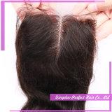 레이스 마감을%s 가진 페루 머리는 레이스 마감 (5*5)로 충분히 안으로 꿰맨다