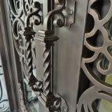 La main a modifié la porte d'entrée de fer de Rod avec les charnières lourdes