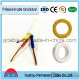 Prix bon marché de qualité câble jumeau de PVC bleu/jaune/vert du fil plat 0.3mm2