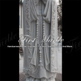 Het hand-gesneden Standbeeld Maagdelijke Mary Ms-1017 van Metrix Carrara van het Graniet van de Steen van het Beeldhouwwerk Marmeren