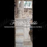 Camino bianco Mfp-198 di Carrara del camino del camino di pietra del camino di marmo del granito