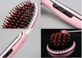 Pettine del raddrizzatore dei capelli per il pettine diritto elettrico della ceramica di cura di capelli con la spazzola di capelli dell'affissione a cristalli liquidi