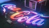 옥외 스테인리스 마스크에 의하여 점화되는 RGB 다채로운 LED 채널 편지 표시