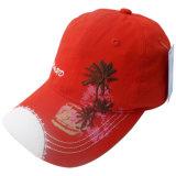Boné de beisebol lavado vermelho com a impressão e o bordado Gjwd1723