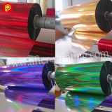 Película de estratificação térmica holográfica colorida/transparente de BOPP/Pet com testes padrões