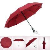 Côtes protégeant du vent proches ouvertes d'automobile 10 annonçant les parapluies se pliants de parapluie