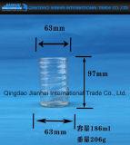 Supporto di candela di vetro di vendita caldo del vaso con il reticolo dell'anello