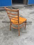 Изготовленный на заказ трактир обедая стул металла с деревянным местом (FOH-C001)