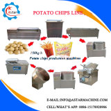 Hecho en China patatas fritas semiautomáticas y Full-Automatic que hacen a surtidor de la máquina