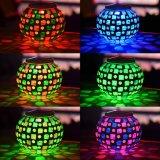 Luz solar cambiante del vector del tarro del mosaico del color de cristal impermeable